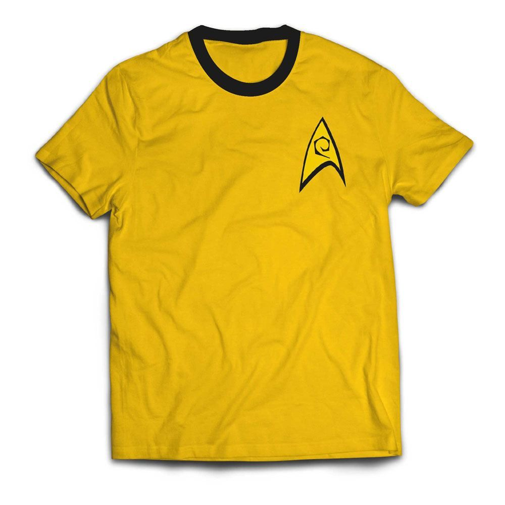 Star Trek Ringer Tričko Command Uniform Velikost S PCM