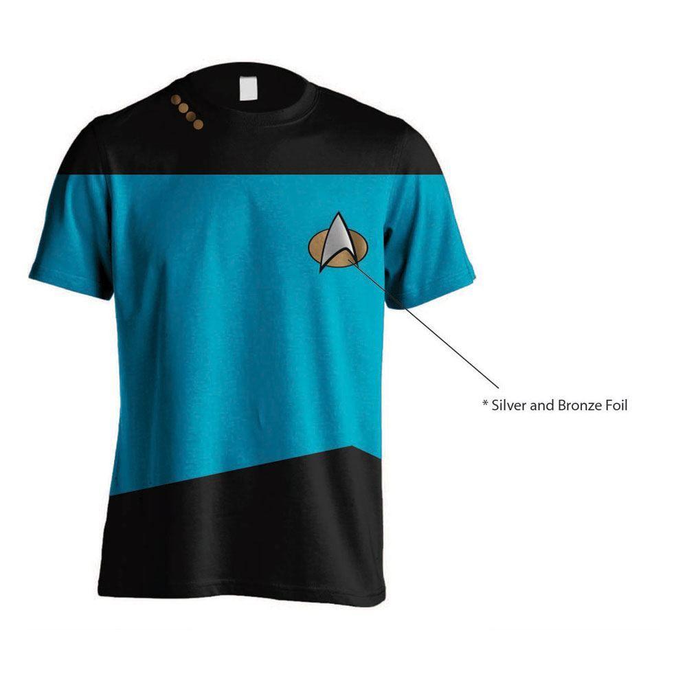 Star Trek Tričko Uniform Blue Velikost S PCM