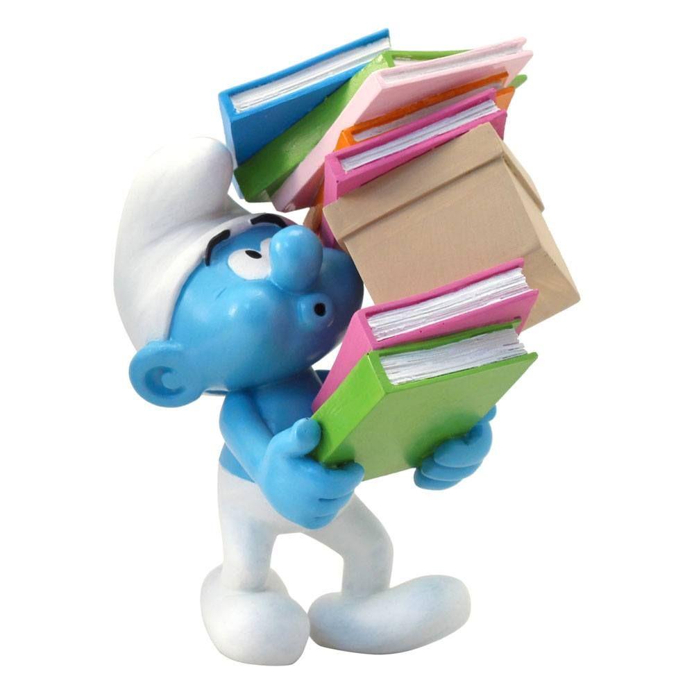 The Smurfs Collector Kolekce Soška Smurf Stack of Books 17 cm Plastoy