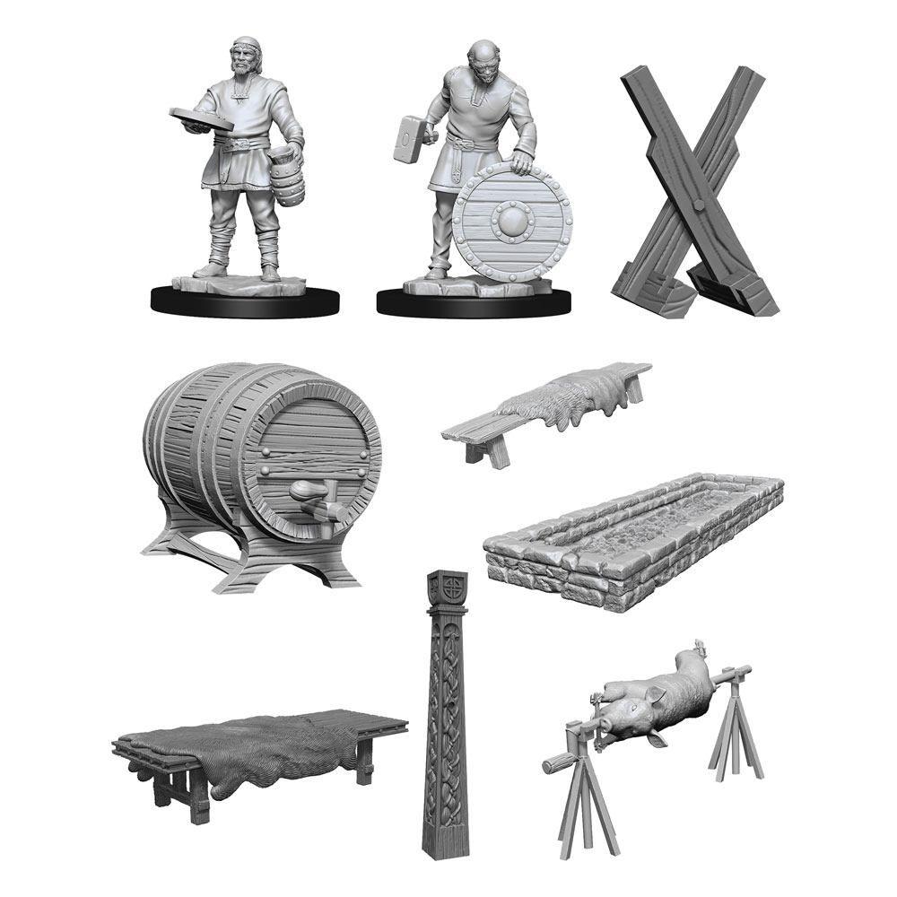 WizKids Deep Cuts Unpainted Miniatures Vikings