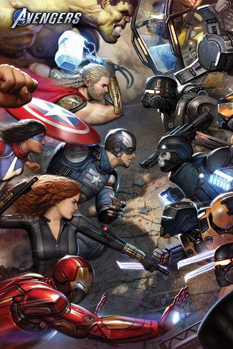 Avengers Gamerverse Plakát Pack Face Off 61 x 91 cm (5) Pyramid International