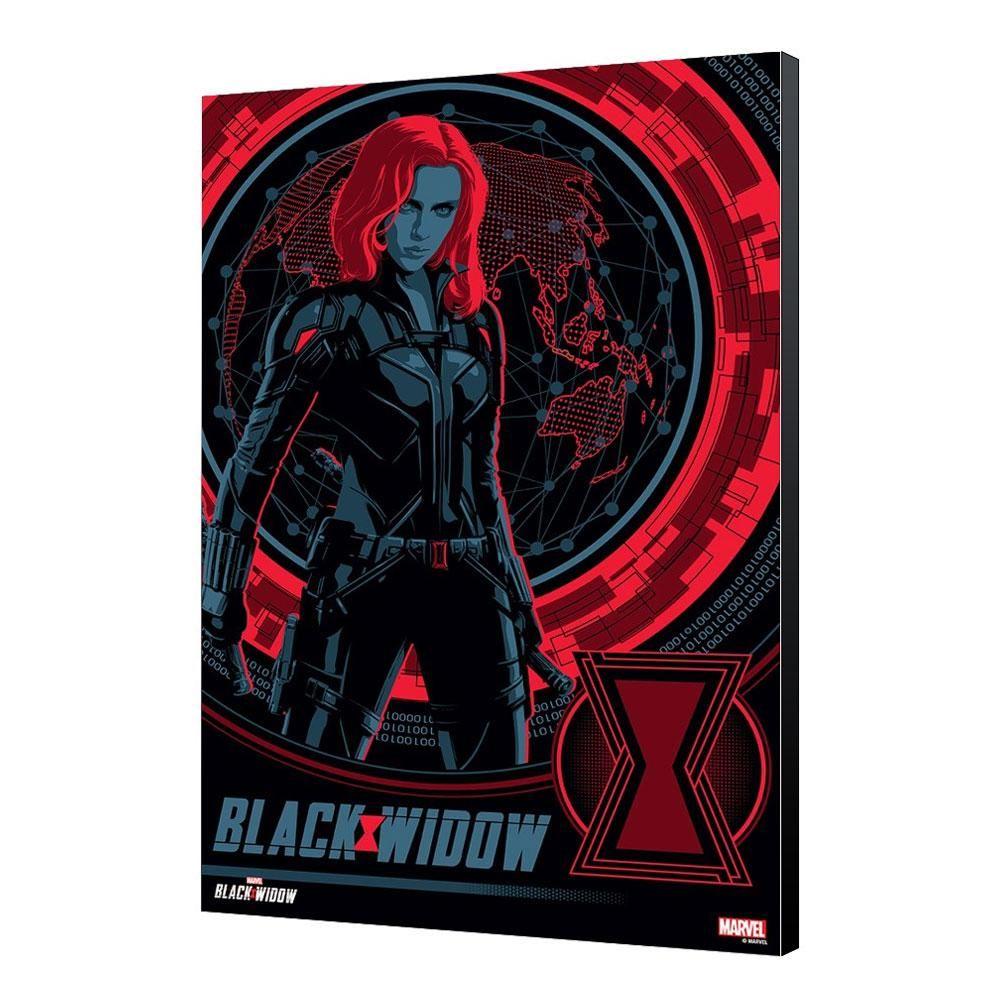 Black Widow Movie Wooden Nástěnná Art BW Blackops 34 x 50 cm Semic