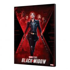 Black Widow Movie Wooden Nástěnná Art BW Movie Plakát 34 x 50 cm