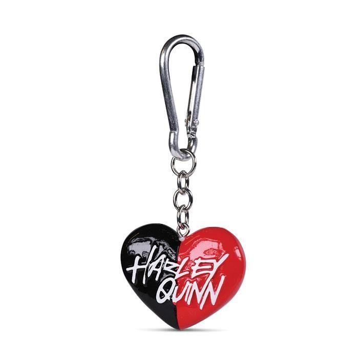 DC Comics 3D-Keychains Harley Quinn Heart 4 cm Case (10) Pyramid International