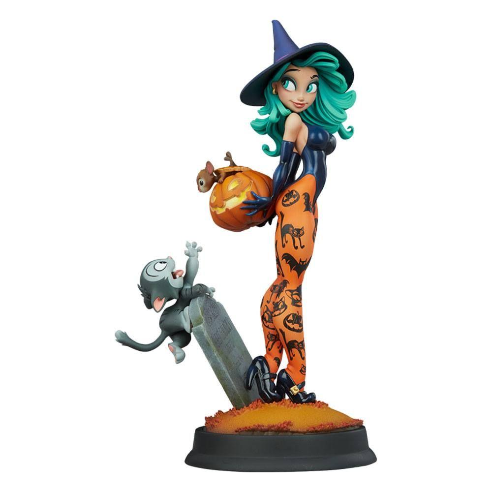 Happy HallowQueens Kolekce Soška Pumpkin Witch by Chris Sanders 34 cm Sideshow Collectibles