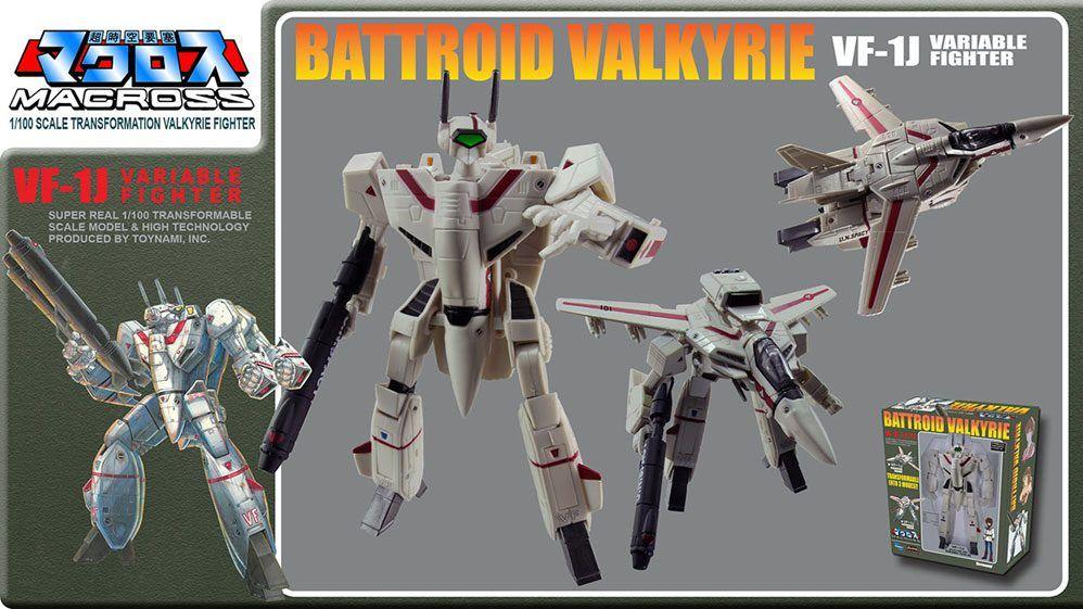 Macross Retro Transformable Kolekce Akční Figure 1/100 VF-1J Ichijo Valkyrie 13 cm Toynami