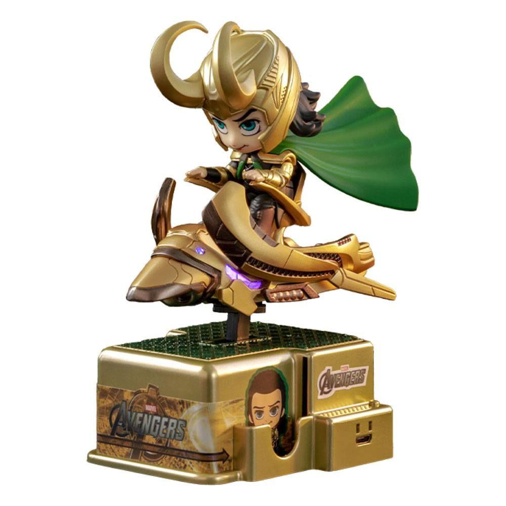 Marvel Comics CosRider Mini Figure with Sound & Light Up Loki 15 cm Hot Toys