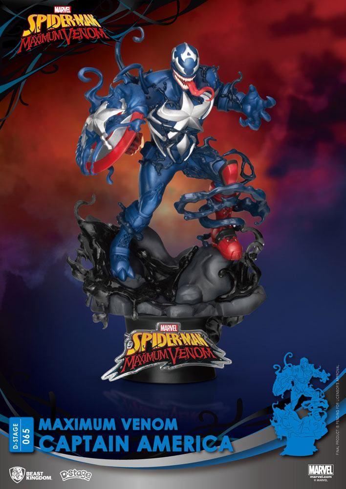 Marvel Comics D-Stage PVC Diorama Maximum Venom Captain America 16 cm Beast Kingdom Toys