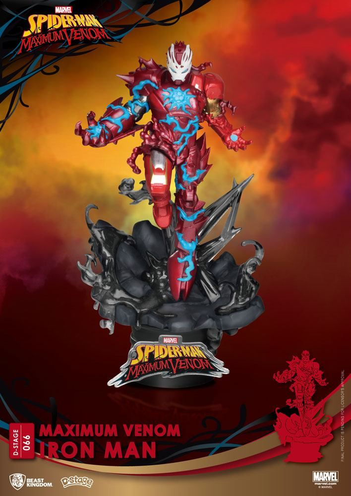 Marvel Comics D-Stage PVC Diorama Maximum Venom Iron Man 16 cm Beast Kingdom Toys