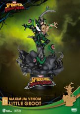 Marvel Comics D-Stage PVC Diorama Maximum Venom Little Groot 16 cm