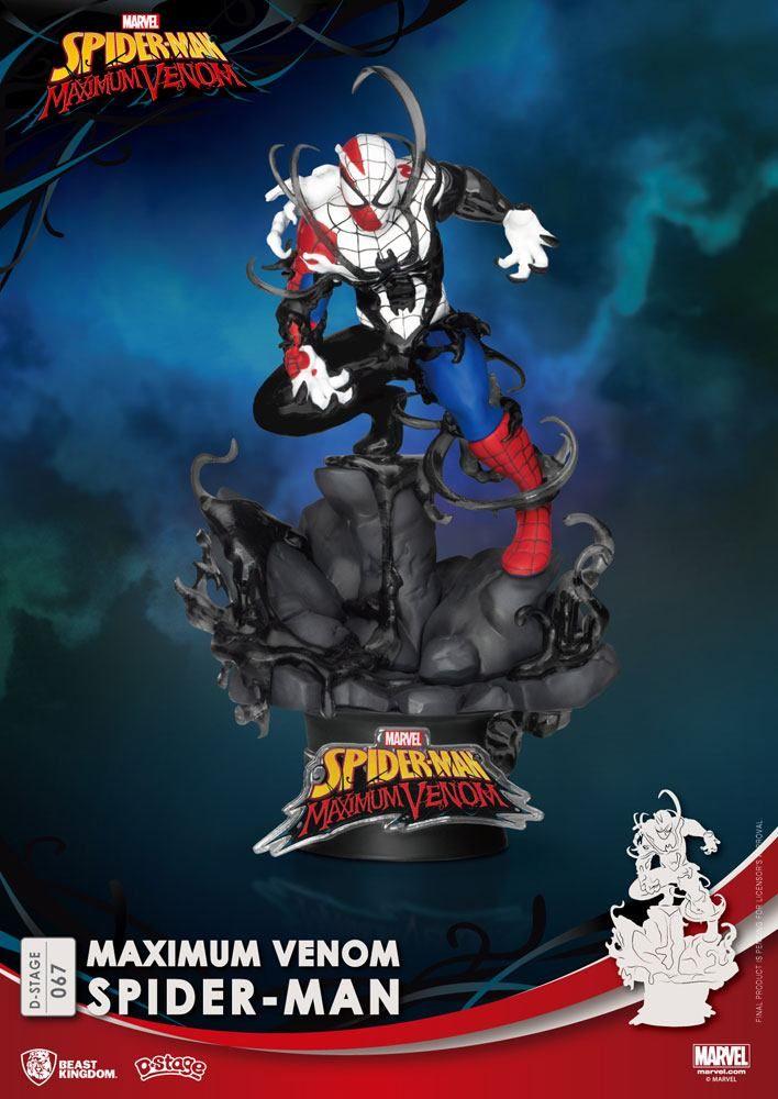 Marvel Comics D-Stage PVC Diorama Maximum Venom Spider-Man 16 cm Beast Kingdom Toys