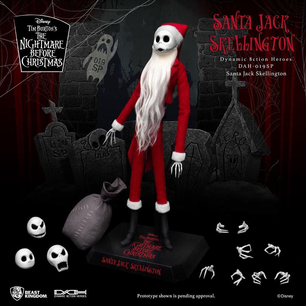 Nightmare before Christmas Dynamic 8ction Heroes Akční Figure 1/9 Santa Jack Skellington 21 cm Beast Kingdom Toys