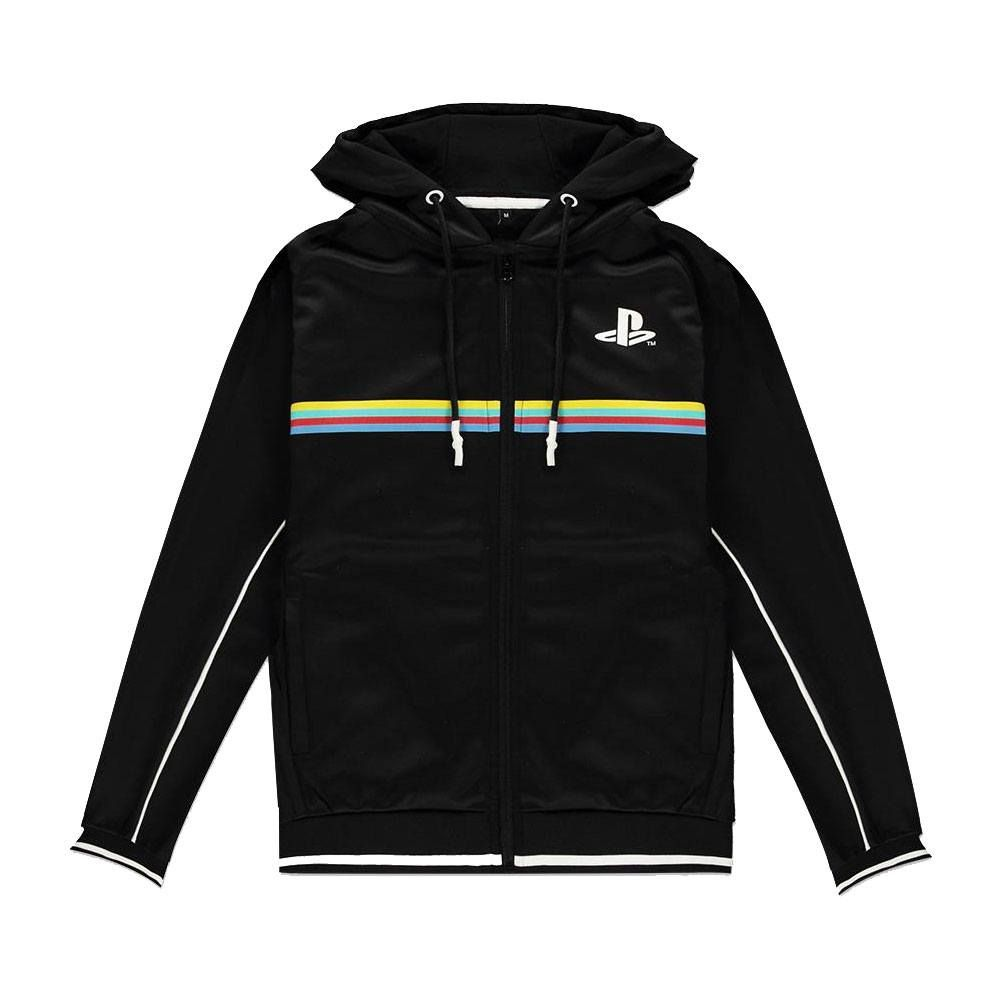 Sony PlayStation Hooded Mikina Color Stripe Velikost XL Difuzed