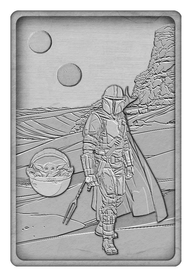 Star Wars: The Mandalorian Iconic Scene Kolekce Limited Edition Ingot The Mandalorian FaNaTtik
