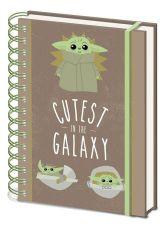 Star Wars The Mandalorian Wiro Poznámkový Blok A5 Cutest In The Galaxy Case (10)