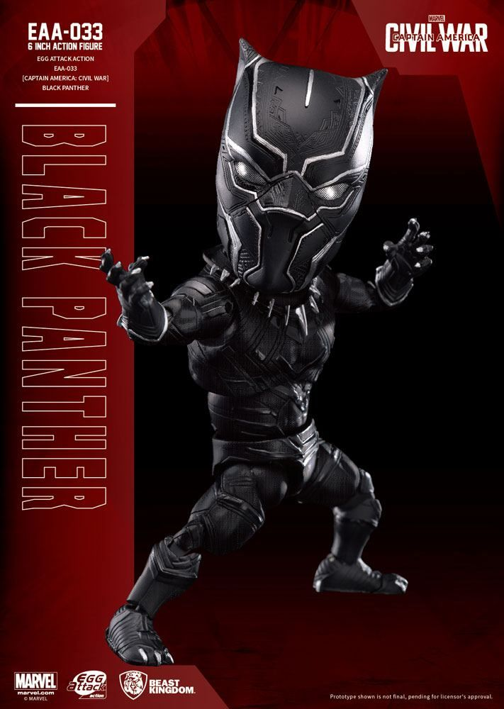 Captain America Civil War Egg Attack Akční Figure Black Panther 15 cm Beast Kingdom Toys