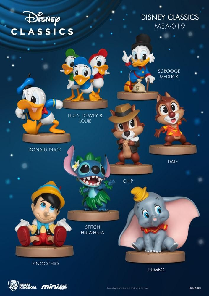 Disney Classic Series Mini Egg Attack Figures 8 cm Display (8) Beast Kingdom Toys