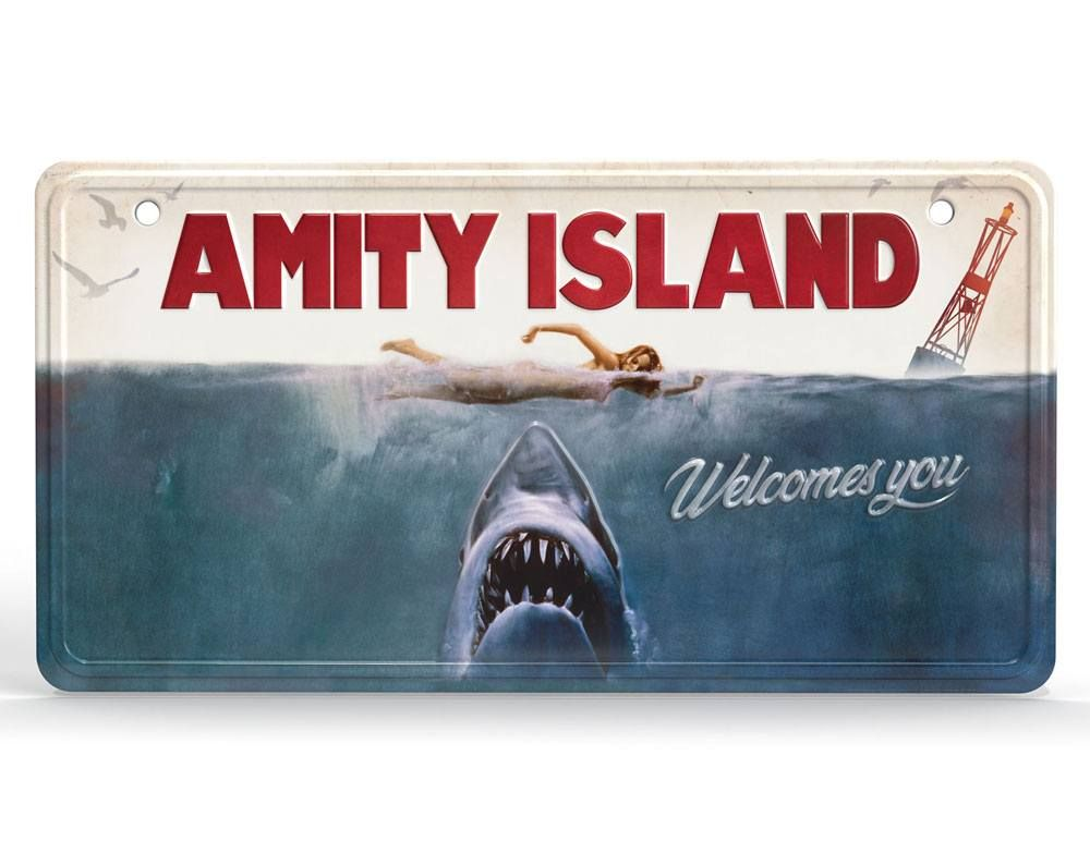 Jaws Metal Sign Movie Plakát Doctor Collector