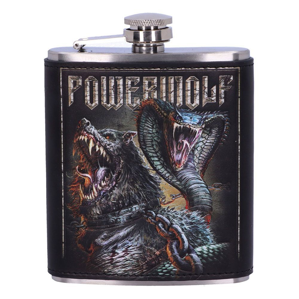 Powerwolf Hip Flask Logo Nemesis Now