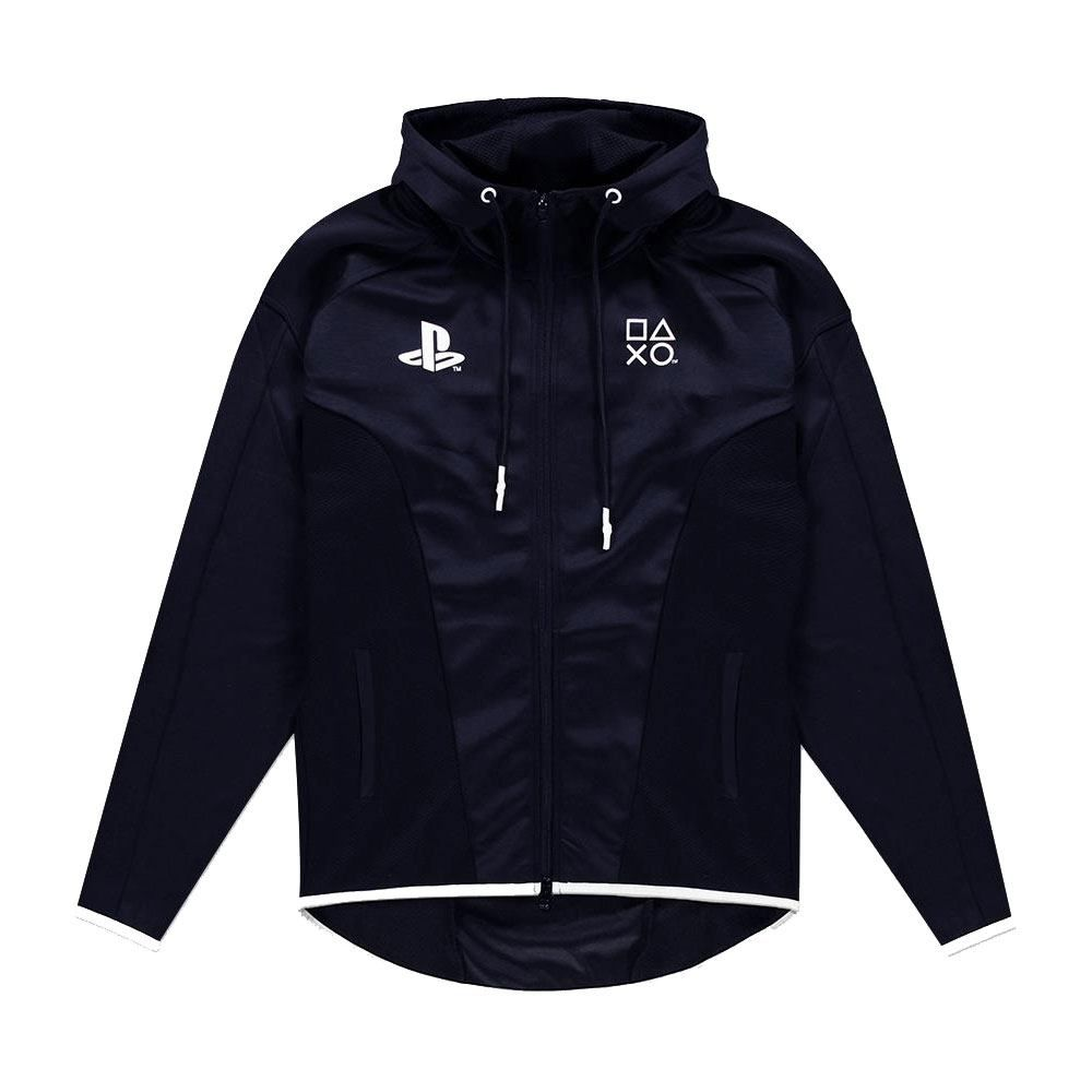 Sony PlayStation Hooded Mikina Black & White Teq Velikost XL Difuzed