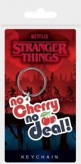 Stranger Things Gumový Přívěsky na klíče No Cherry No Deal 6 cm Case (10)
