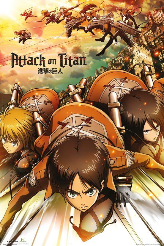 Attack on Titan Plakát Pack Attack 61 x 91 cm (5) GB eye