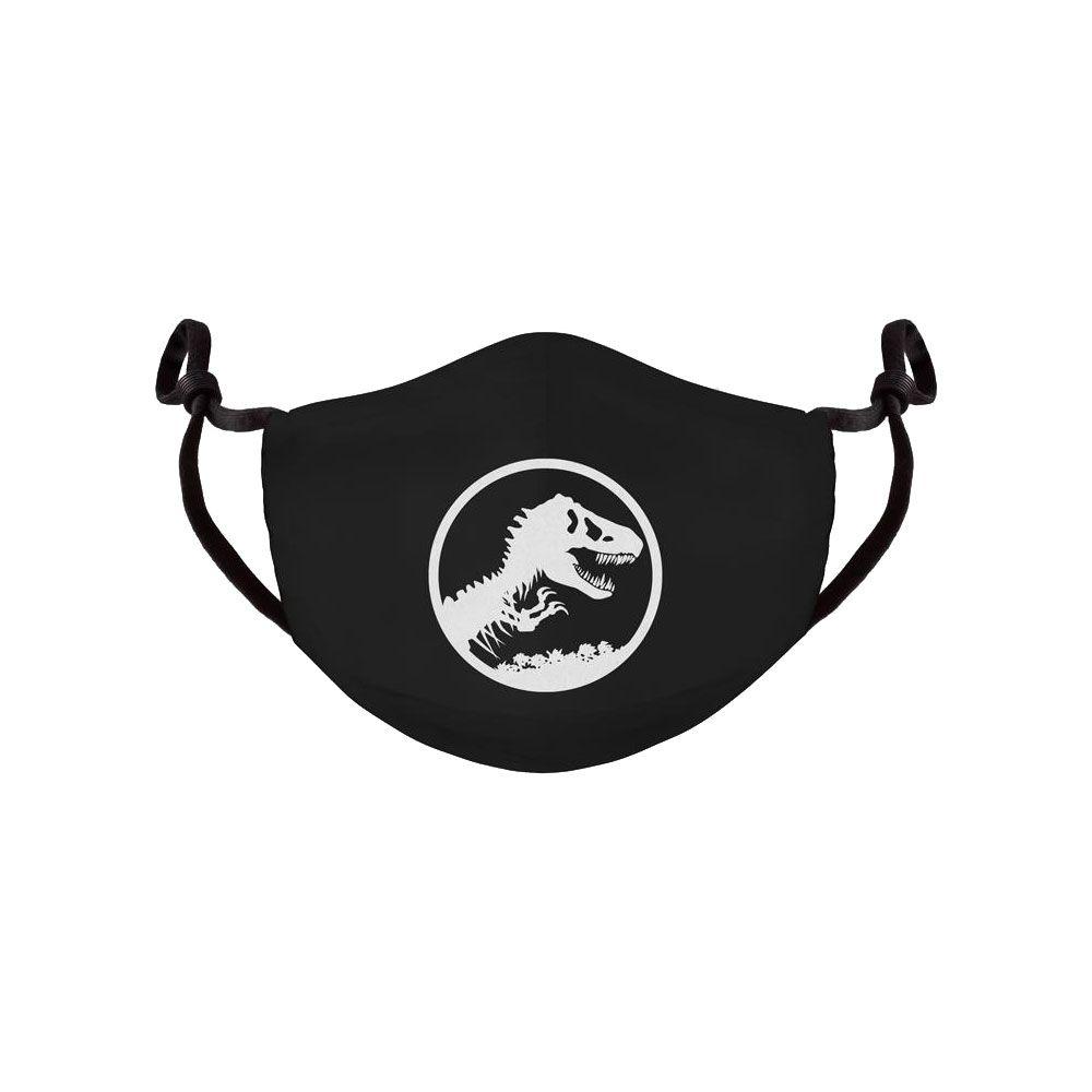 Jurassic Park Face Mask Logo Difuzed