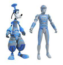 Kingdom Hearts Select Akční Figures 2-Pack Goofy & Tron 18 cm