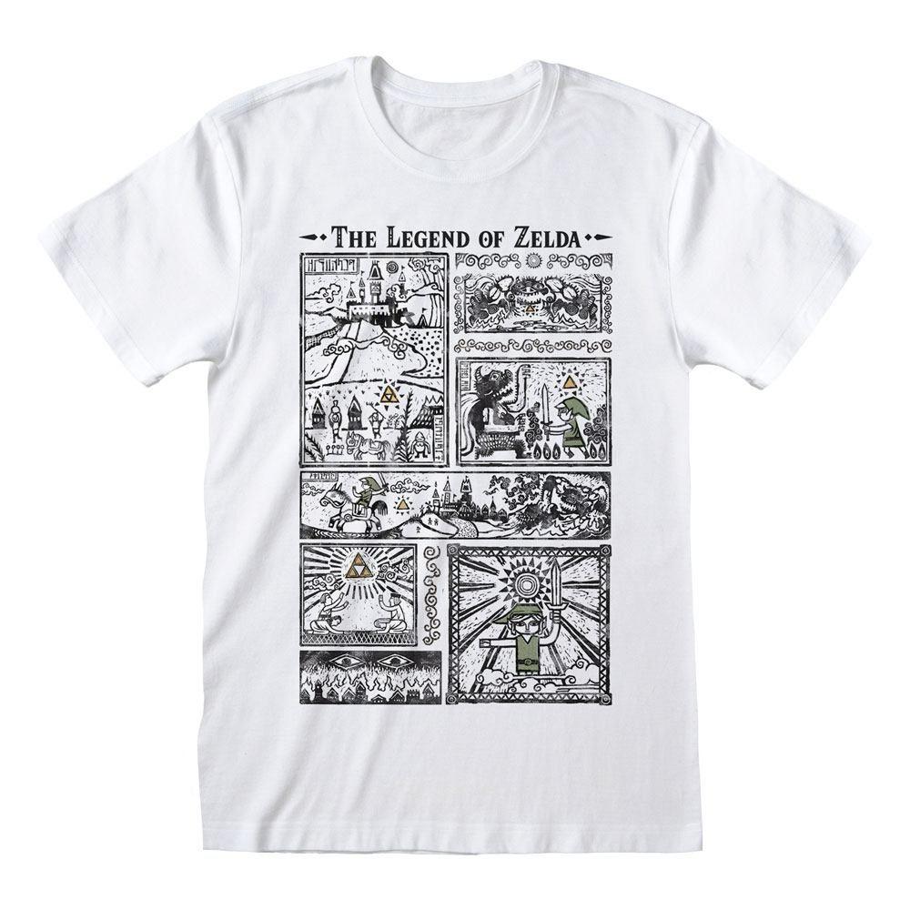 Legend Of Zelda Tričko Drawings Velikost XL Heroes Inc