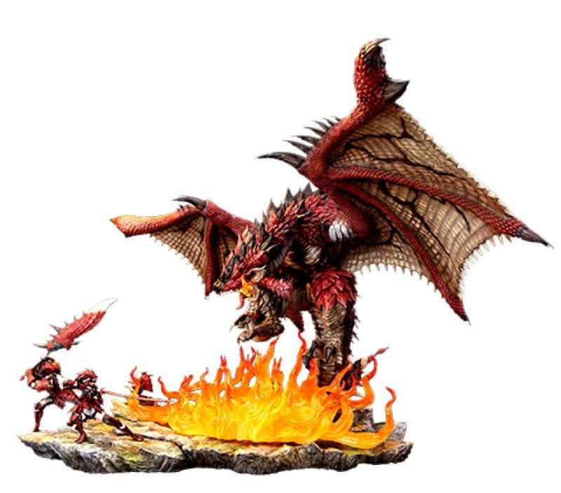 Monster Hunter Diorama 1/10 Rathalos The Fiery Bundle 52 cm Kinetiquettes