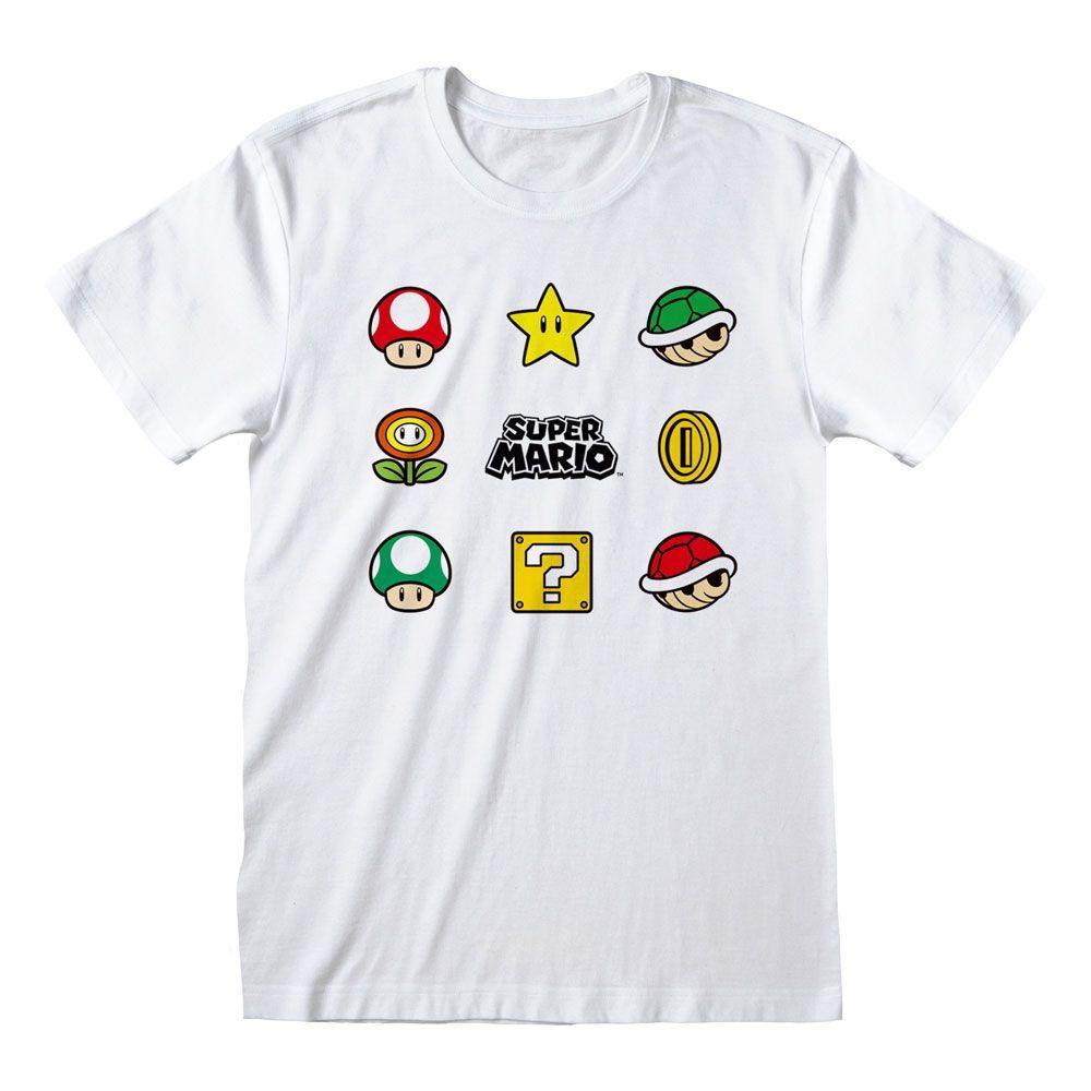 Nintendo Tričko Super Mario - Items Velikost L Heroes Inc