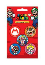 Super Mario Eraser 5-Pack Case (12)