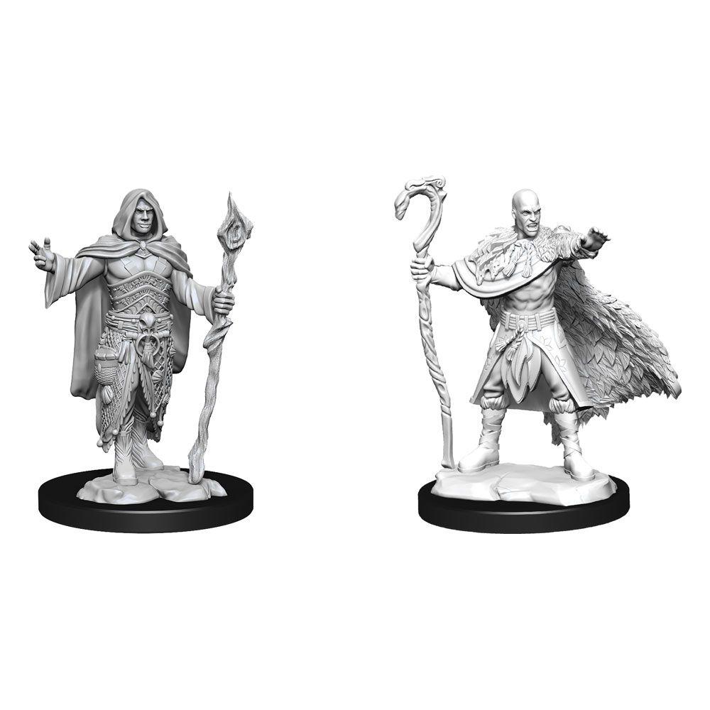D&D Nolzur's Marvelous Miniatures Unpainted Miniatures Human Druid Male Case (6) Wizkids
