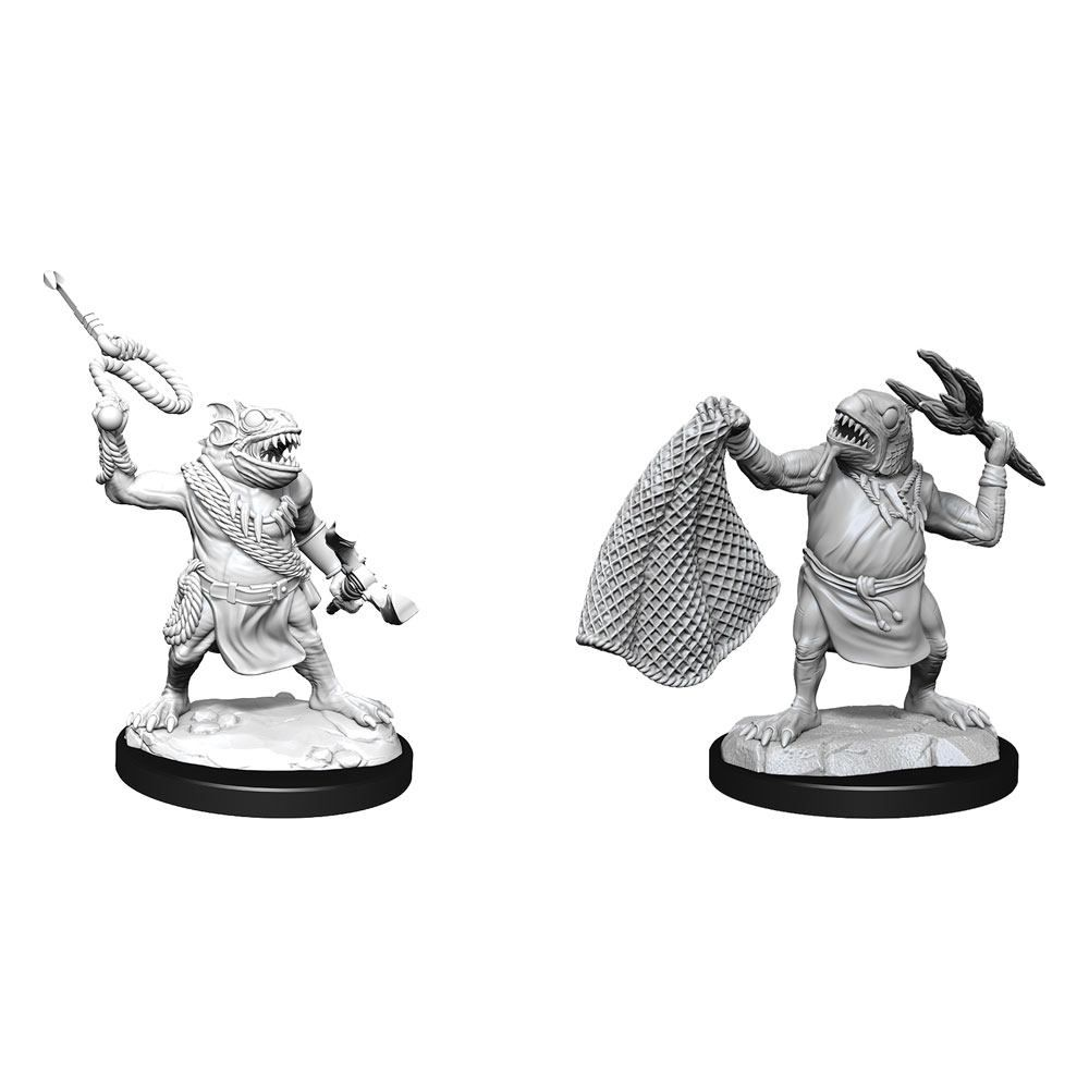 D&D Nolzur's Marvelous Miniatures Unpainted Miniatures Kuo-Toa & Kuo-Toa Whip Case (6) Wizkids