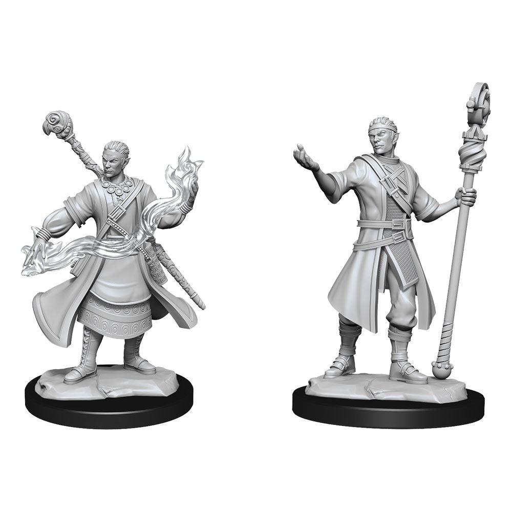 D&D Nolzur's Marvelous Miniatures Unpainted Miniatures Half-Elf Wizard Male Case (6) Wizkids