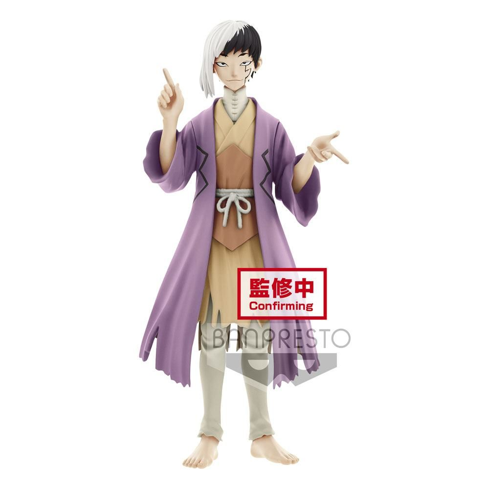 Dr. Stone PVC Soška Stone World Gen Asagiri 18 cm Banpresto