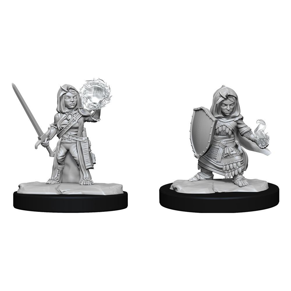 Pathfinder Battles Deep Cuts Unpainted Miniatures Halfling Cleric Female Case (6) Wizkids