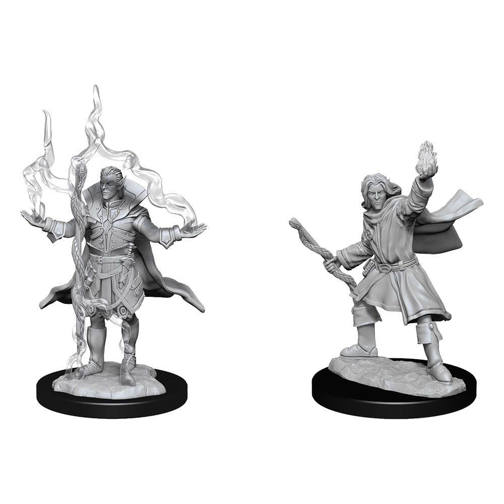 Pathfinder Battles Deep Cuts Unpainted Miniatures Elf Sorcerer Male Case (6) Wizkids