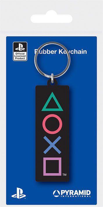 Sony PlayStation Gumový Přívěsky na klíče Shapes 6 cm Case (10) Pyramid International