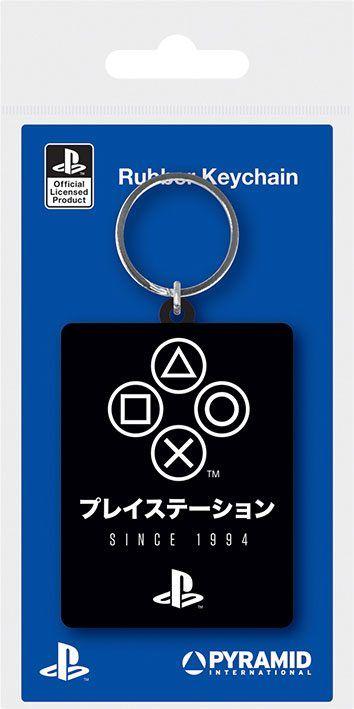 Sony PlayStation Gumový Přívěsky na klíče Since 1994 6 cm Case (10) Pyramid International