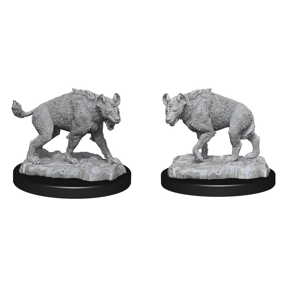 WizKids Deep Cuts Unpainted Miniature Hyenas Case (6)