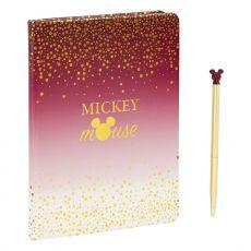 Disney Poznámkový Blok with Propiska Mickey Berry Glitter