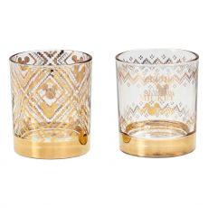 Disney Tumbler Glass 2-Pack Gold Mickey