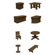 D&D Icons of the Realms pre-painted Miniatures The Yawning Portal Inn - Bars & Tables