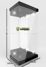 Master Light House Acrylic Display Case with Lighting for 1/4 Akční Figures (black)