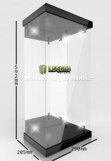Master Light House Acrylic Display Case with Lighting for 1/4 Akční Figures (black)