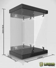 Master Light House Acrylic Display Case with Lighting for 1/6 Akční Figures (black)