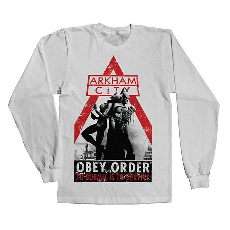 Batman Arkham tričko s dlouhým rukávem Obey Order Licenced