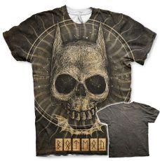 Batman tričko s Allover potiskem Gothic Skull Licenced