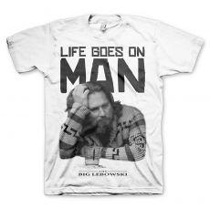 Pánské tričko Big Lebowski Life Goes On Man